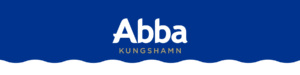 Abba logo on blue background.
