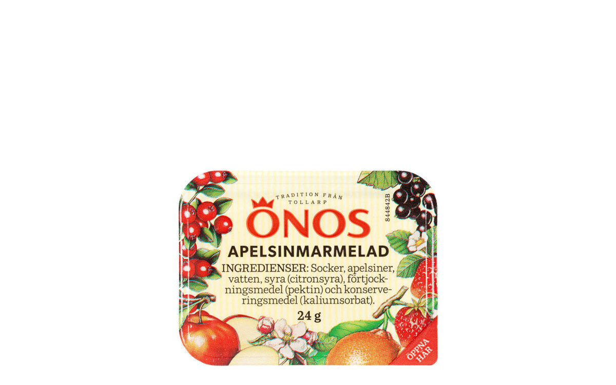 10201 Önos apelsinmarmelad, portion